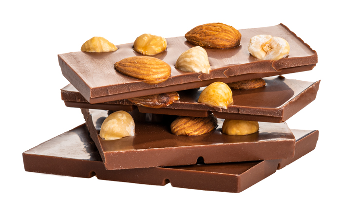 Čokoláda mande, lieskový orech